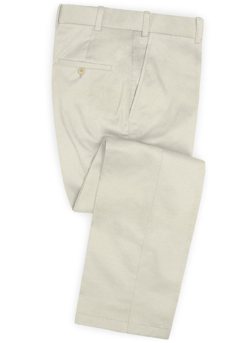 Light Beige Stretch Chino Pants