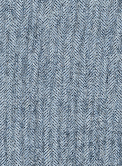 Light Blue Herringbone Tweed Pants - Click Image to Close