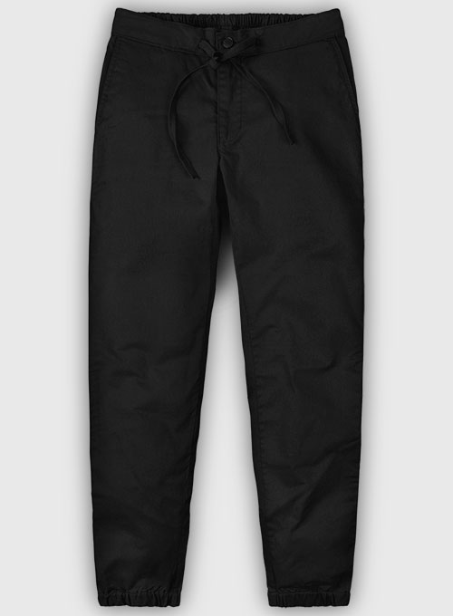 Lounge Style Summer Weight Black Chinos