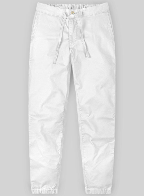 Lounge Style Summer Weight White Chinos