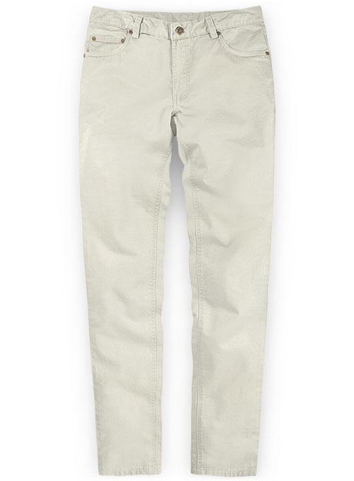 Light Beige Stretch Chino Jeans