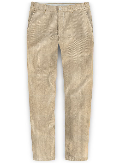 Light Beige Thick Corduroy Trousers - 8 Wales - Click Image to Close