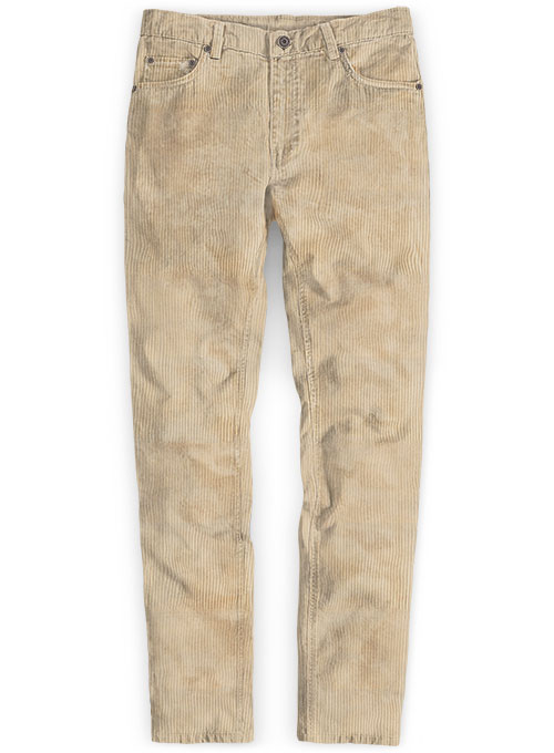 Light Beige Thick Corduroy Jeans - 8 Wales