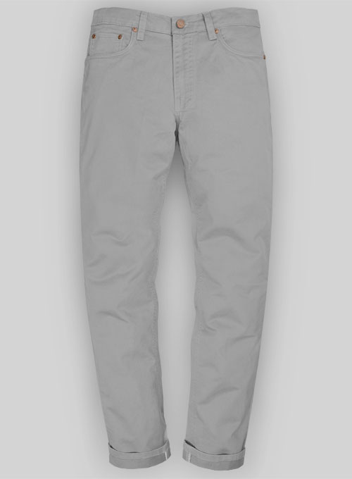 Light Gray Chino Jeans Makeyourownjeans 174 Made To