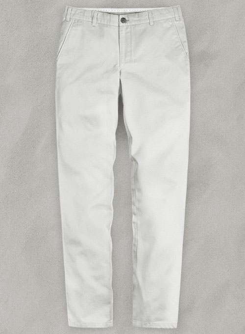 Light Gray Stretch Chino Pants