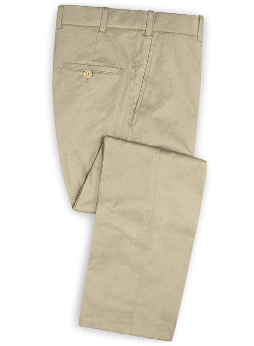 Light Khaki Stretch Chino Pants