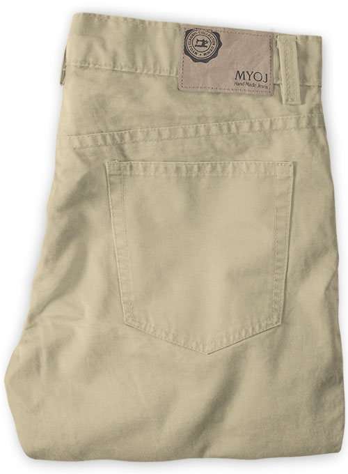 Light Khaki Stretch Chino Jeans - Click Image to Close