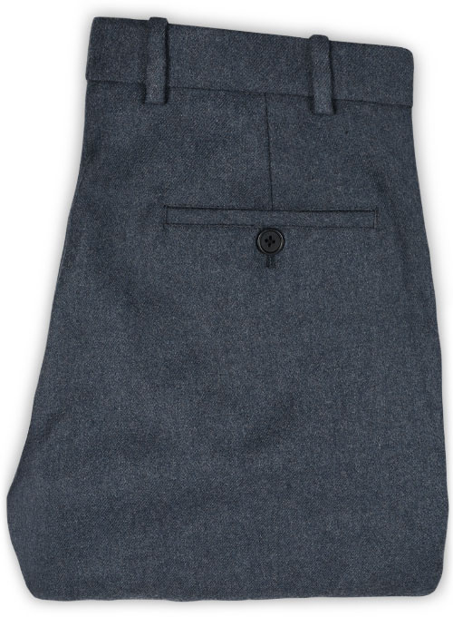 Light Weight Bond Blue Tweed Pants - Click Image to Close
