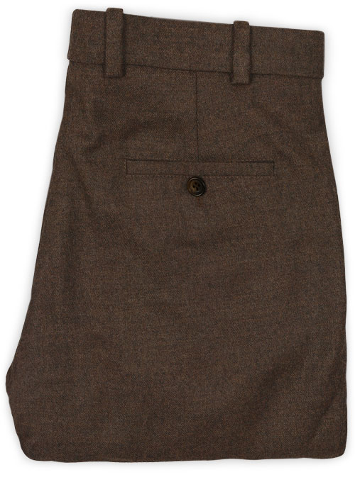 Light Weight Dark Brown Tweed Pants - Click Image to Close