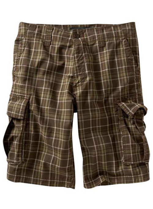 Madras Plaid - Light Weight Cargo Shorts
