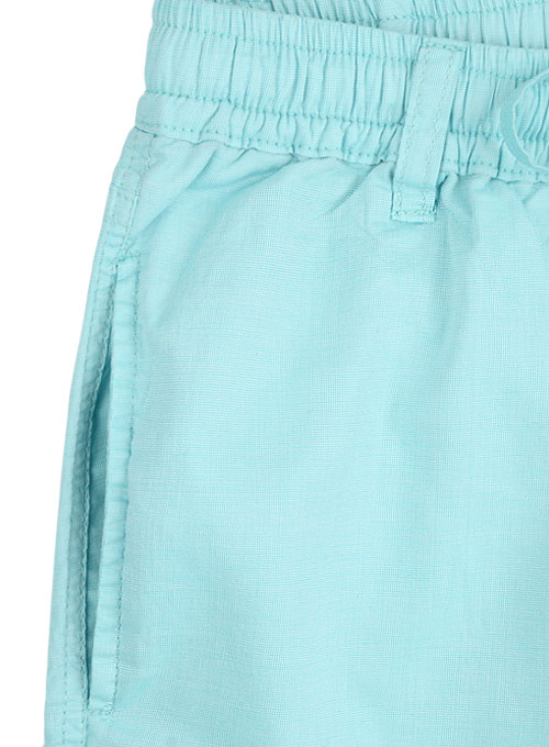 Poplene Light Blue Light Weight Shorts - Click Image to Close