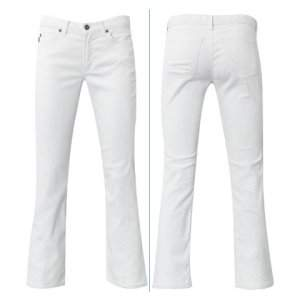 White Cotton Stretch Jeans
