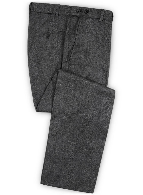 Reda Flannel Dark Gray Pure Wool Pants Makeyourownjeans