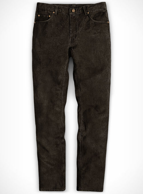 suitable for men/women official cheaper Rich Brown Corduroy Jeans Washed