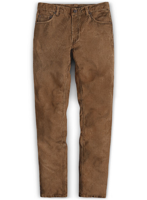 Rust Brown Thick Corduroy Jeans - 8 Wales