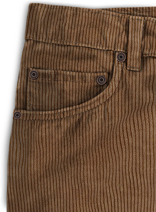 Rust Brown Thick Corduroy Jeans - 8 Wales - Click Image to Close