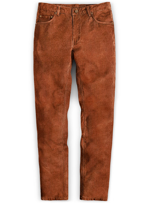 Rust Stretch Corduroy Jeans - 21 Wales