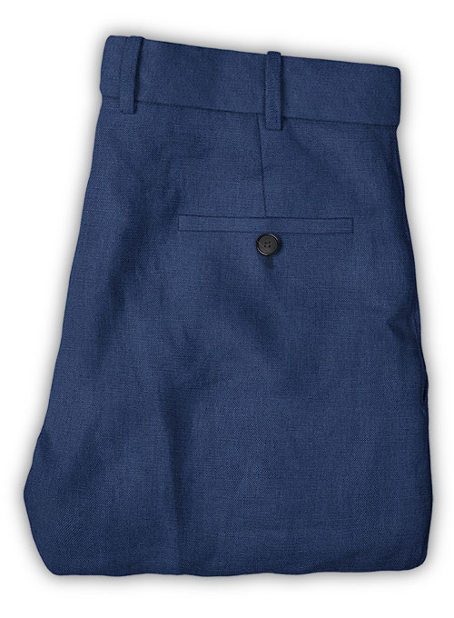 Safari Royal Blue Cotton Linen Pants