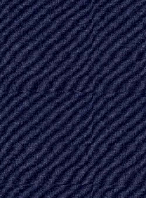 Scabal Regal Blue Wool Pants - Click Image to Close
