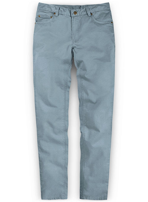 Slate Blue Stretch Chino Jeans