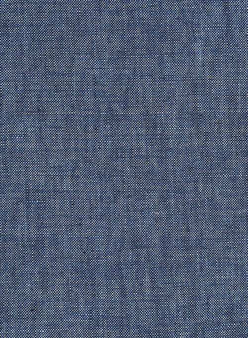 Solbiati Cadel Blue Linen Pants - Click Image to Close