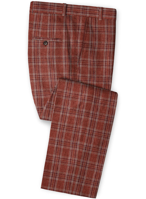 Solbiati Wine Square Linen Pants