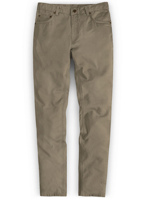 Spring Brown Stretch Chino Jeans