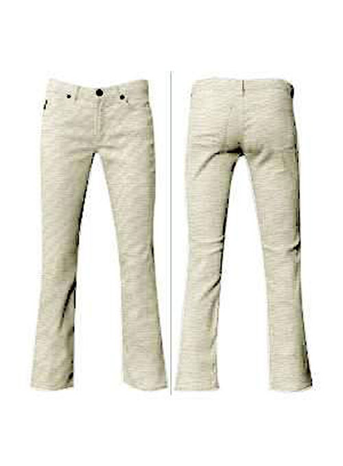 Light Beige Cotton Stretch Jeans