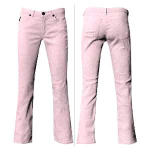 Pink Cotton Stretch Jeans
