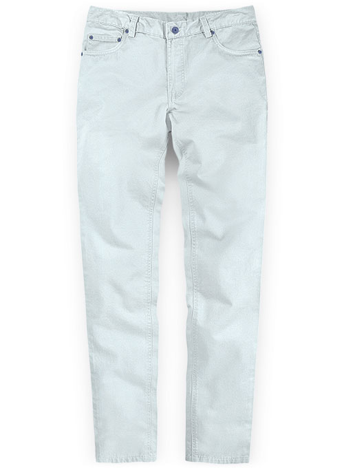 Stretch Summer Weight Sky Blue Chino Jeans