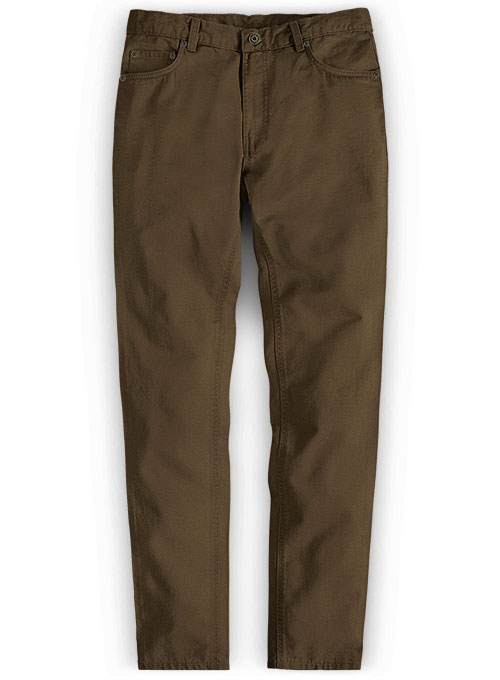 Stretch Summer Weight Brown Chino Jeans