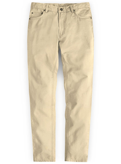 Stretch Summer Weight Light Khaki Chino Jeans