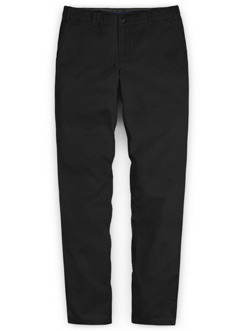 Black Stretch Chino Pants