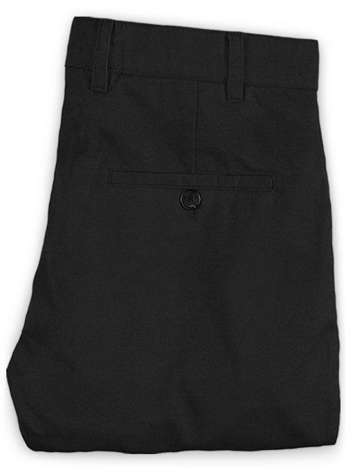 Black Stretch Chino Pants - Click Image to Close