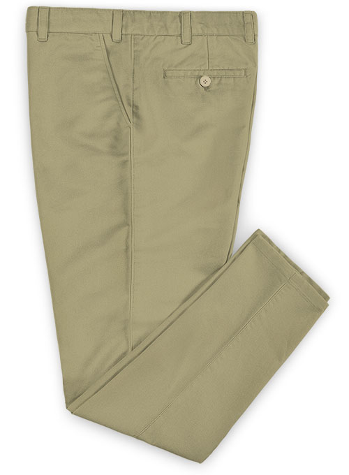 Dark Khaki Stretch Chino Pants - Click Image to Close