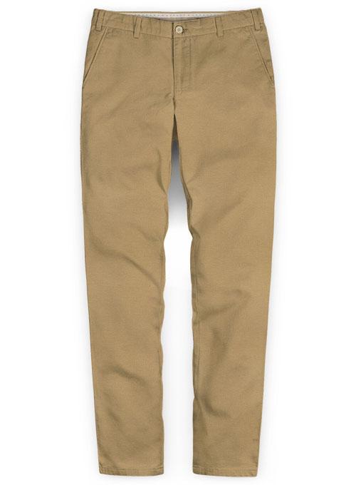 Khaki Stretch Chino Pants Washed
