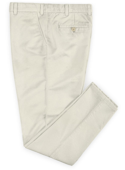Light Beige Stretch Chino Pants - Click Image to Close