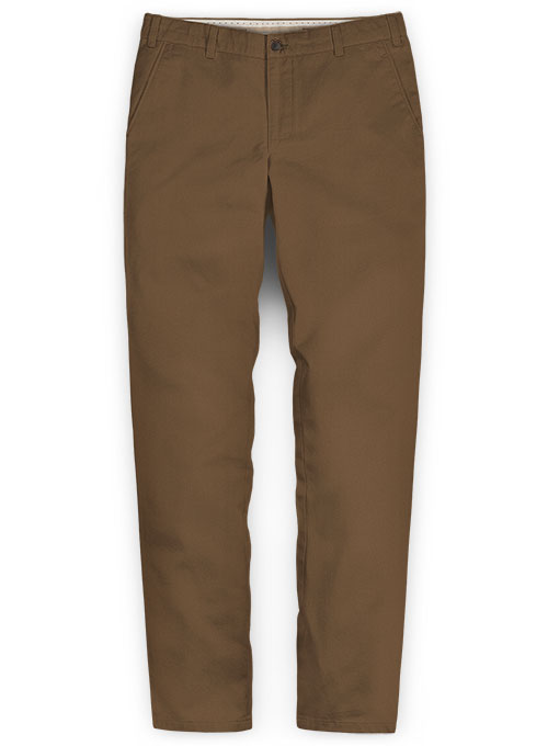 Brown Stretch Chino Pants