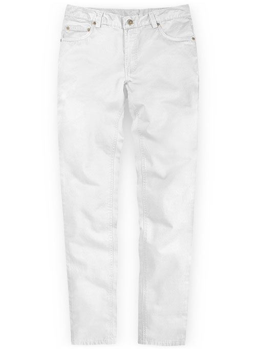 White Stretch Chino Jeans