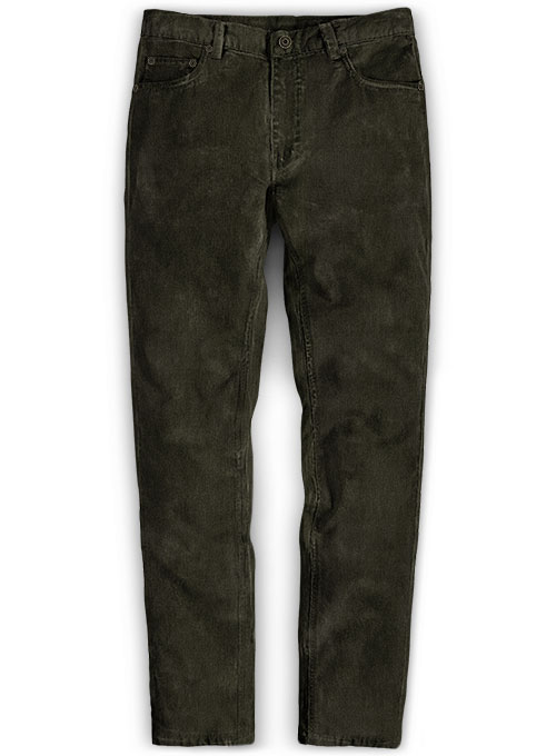 Stretch Olive Corduroy Jeans - 21 Wales