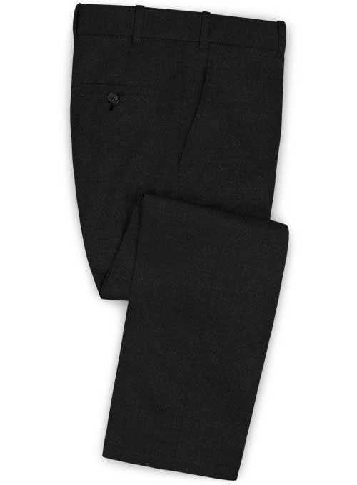Stretch Summer Weight Black Chino Pants
