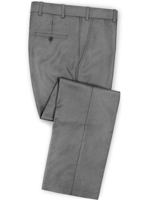 Stretch Summer Weight Gray Chino Pants