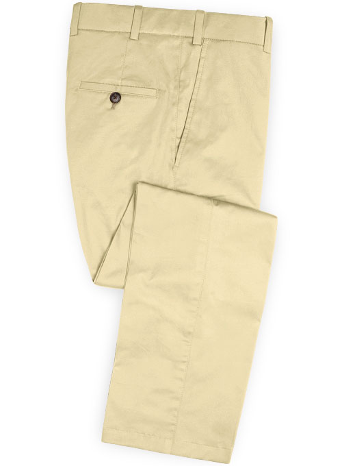 Stretch Summer Weight Light Khaki Chino Pants