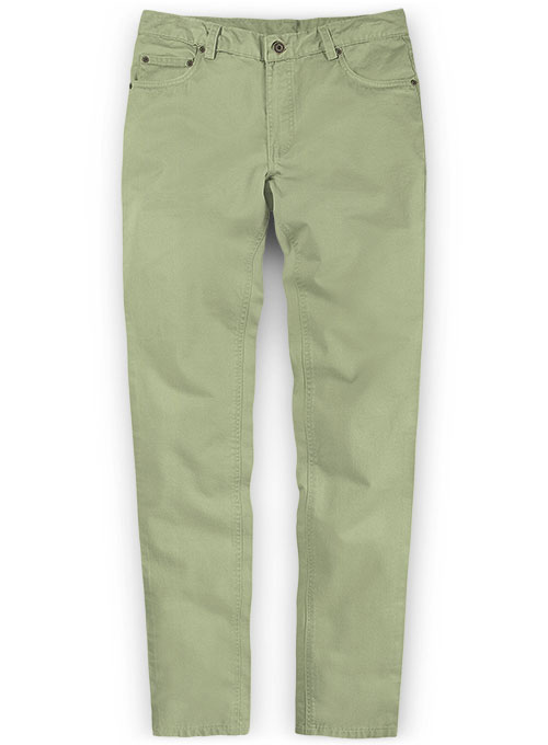 Stretch Summer Weight River Green Chino Jeans