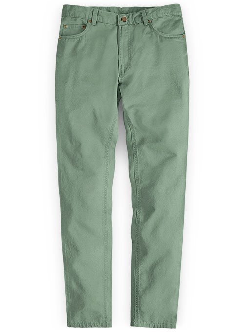 Stretch Summer Weight Spring Green Chino Jeans