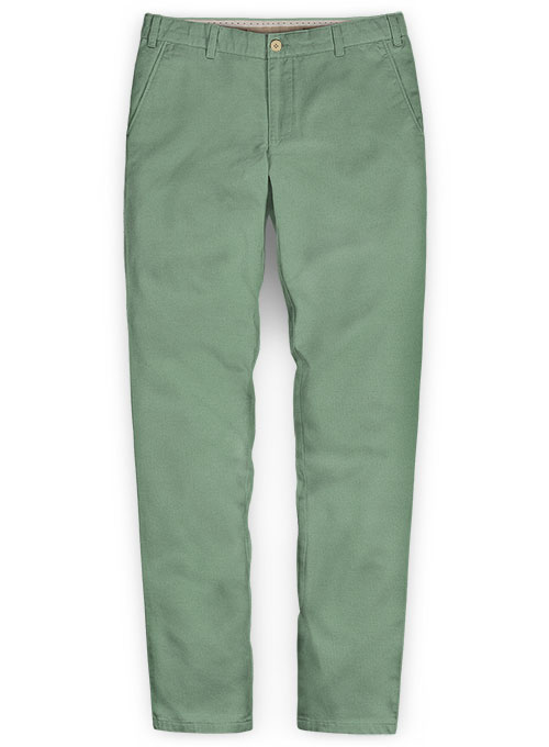 Stretch Summer Weight Spring Green Chino Pants