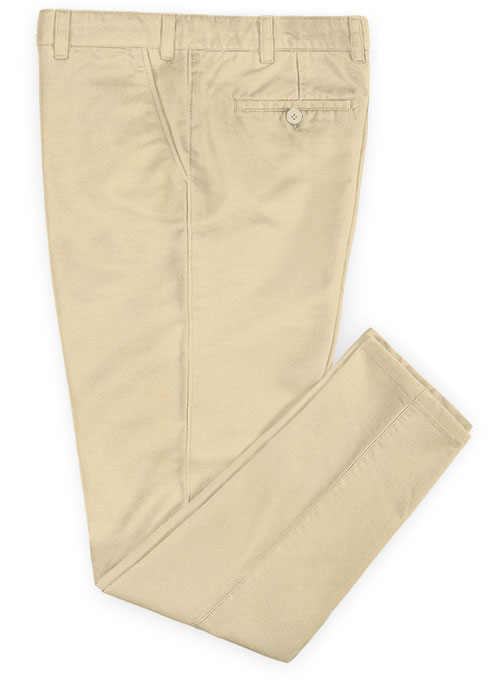 Stretch Summer Weight Light Khaki Chino Pants - Click Image to Close