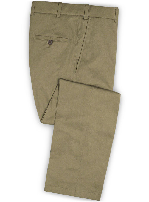 Summer Weight Stone Khaki Chino Pants