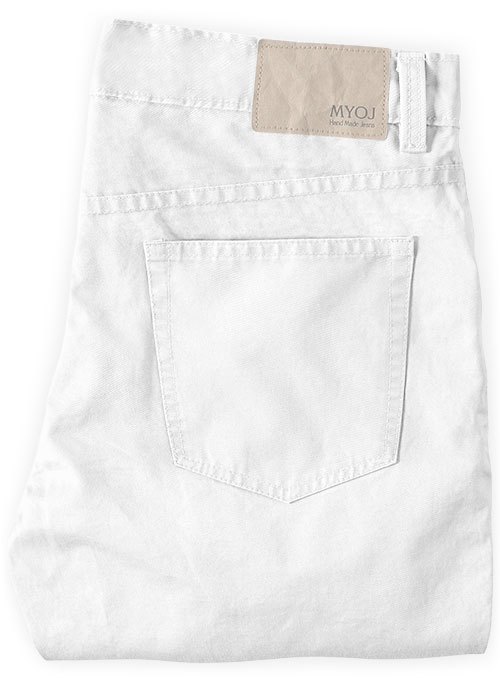 Summer Weight White Chino Jeans - Click Image to Close