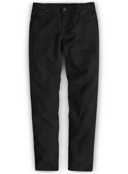 Summer Weight Black Chino Jeans
